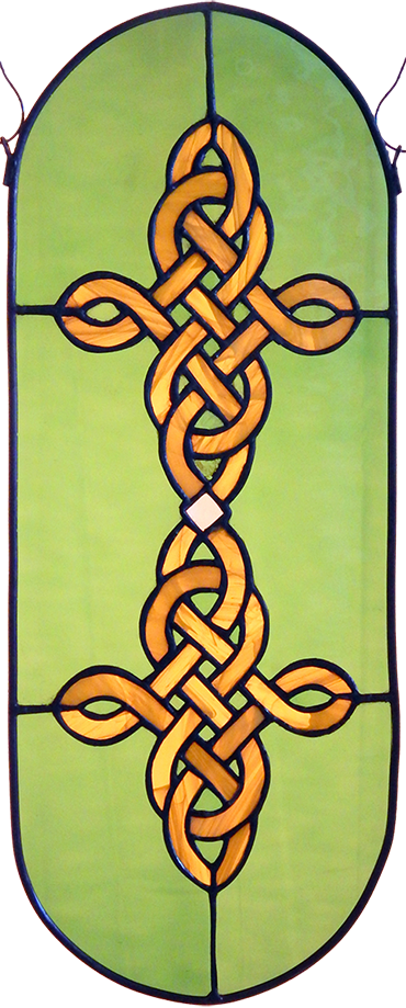 Photo of Celtic knot panel artwork