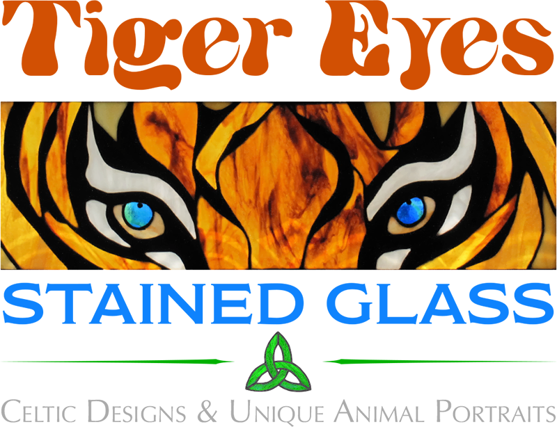 Tiger Eyes Stained Glass logo